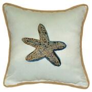 Betsy Drake Interiors Coastal Starfish Indoor/Outdoor Throw Pillow