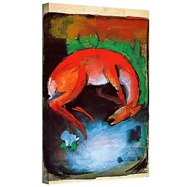 ArtWall 'Dead Dear' by Franz Marc Painting Print on Wrapped Canvas; 24'' H x 18'' W