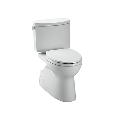 Toto Vespin II High Efficiency 1.28 GPF Elongated Two-Piece Toilet; Colonial White