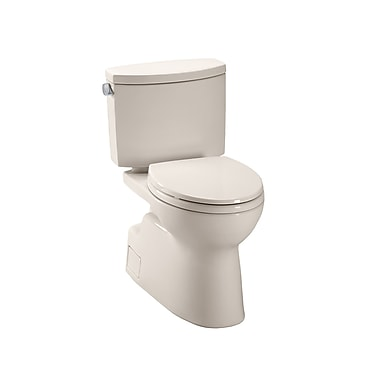 Toto Vespin II High Efficiency 1.28 GPF Elongated Two-Piece Toilet; Bone