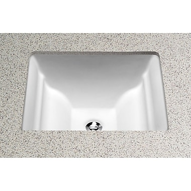 Toto Aimes Ceramic Rectangular Undermount Bathroom Sink w/ Overflow; Colonial White