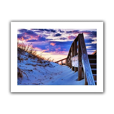 ArtWall Sunset At Ocracoke' by Steven Ainsworth Photographic Print on Rolled Canvas; 28'' H x 40'' W