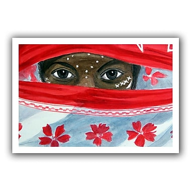 ArtWall Arab Girl' by Lindsey Janich Painting Print on Rolled Canvas; 20'' H x 28'' W