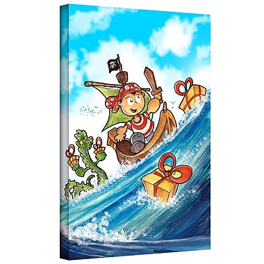 ArtWall 'Kid Pirate' by Luis Peres Graphic Art on Wrapped Canvas; 24'' H x 18'' W