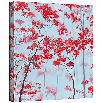 ArtWall 'Red Forest' by Herb Dickinson Graphic Art on Wrapped Canvas; 18'' H x 24'' W