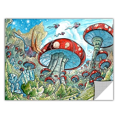 ArtWall ArtApeelz 'Mushroom Forest' by Luis Peres Graphic Art Removable Wall Decal