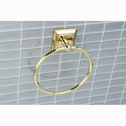 Kingston Brass Millennium Wall Mount Towel Ring; Polished Brass