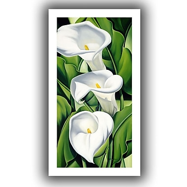 ArtWall Lilies, 2002' by Catherine Abel Graphic Art on Rolled Canvas; 40'' H x 22'' W