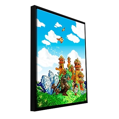 ArtWall 'School Day' by Luis Peres Framed Graphic Art on Wrapped Canvas; 18'' H x 14'' W