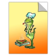 ArtWall ArtApeelz 'Dinosaur Dinner' by Luis Peres Graphic Art Removable Wall Decal