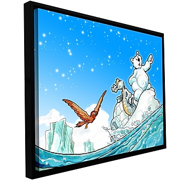ArtWall 'Polar 1' by Luis Peres Framed Graphic Art on Wrapped Canvas; 14'' H x 18'' W