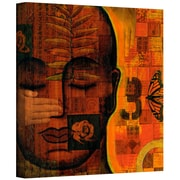 ArtWall 'All Seeing 1' by Gloria Rothrock Painting Print on Wrapped Canvas; 14'' H x 14'' W