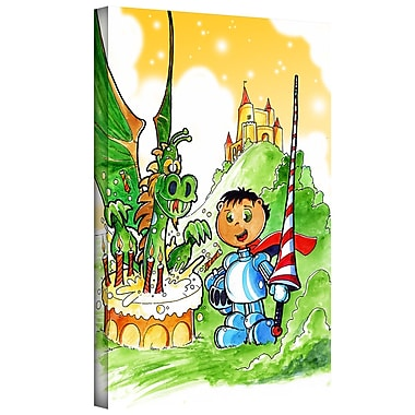 ArtWall 'Knight Kid' by Luis Peres Graphic Art on Wrapped Canvas; 24'' H x 18'' W