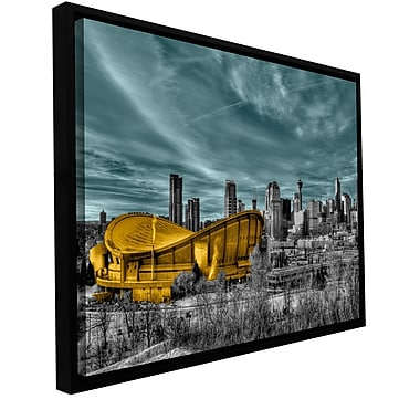 ArtWall 'Calgary' by Revolver Ocelot Framed Graphic Art on Wrapped Canvas; 16'' H x 24'' W