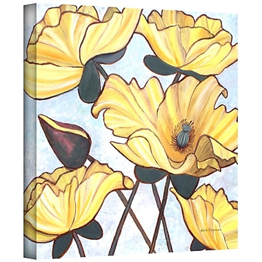 ArtWall 'Golden Blooms' by Herb Dickinson Painting Print on Wrapped Canvas; 18'' H x 18'' W