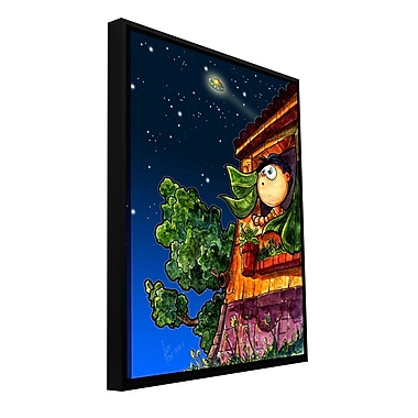 ArtWall 'UFO Kid 1' by Luis Peres Framed Graphic Art on Wrapped Canvas; 48'' H x 36'' W