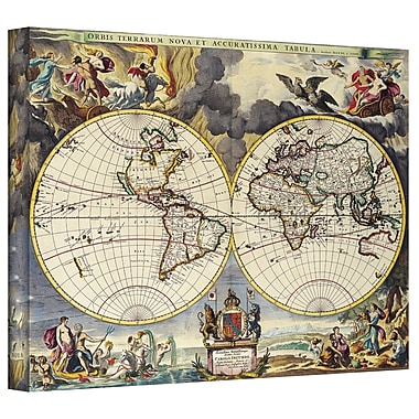 ArtWall Antique Maps 'Map of the World' by Loanne a Loon Graphic Art on Wrapped Canvas