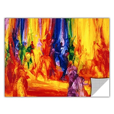 ArtWall ArtApeelz 'Dance 1, 2000' by Bayo Iribhogbe Painting Print Removable Wall Decal
