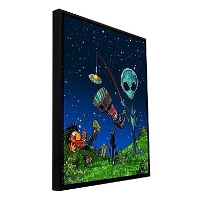 ArtWall 'UFO Kid 3' by Luis Peres Framed Graphic Art on Wrapped Canvas; 48'' H x 36'' W