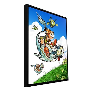 ArtWall 'Flying 1' by Luis Peres Framed Graphic Art on Wrapped Canvas; 32'' H x 24'' W