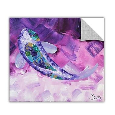ArtWall ArtApeelz 'Purple Koi' by Shiela Gosselin Painting Print Removable Wall Decal