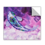 ArtWall ArtApeelz 'Purple Koi' by Shiela Gosselin Painting Print Removable Wall Decal