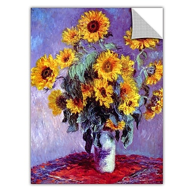 ArtWall ArtApeelz 'Sunflowers' by Claude Monet Painting Print Removable Wall Decal