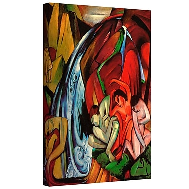 ArtWall 'The Waterfall' by Franz Marc Painting Print on Wrapped Canvas; 24'' H x 32'' W