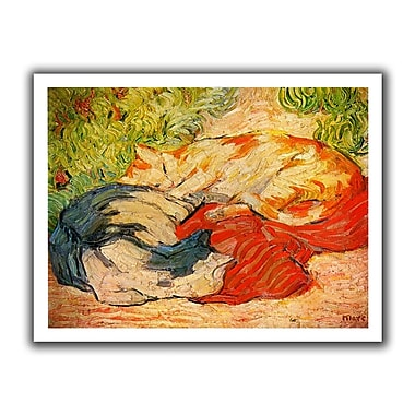 ArtWall Cats' by Franz Marc Painting Print on Rolled Canvas; 18'' H x 22'' W