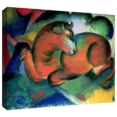 ArtWall 'The Red Bull' by Franz Marc Painting Print on Wrapped Canvas; 36'' H x 48'' W