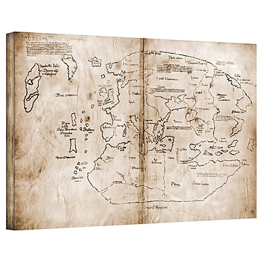 ArtWall Antique Maps 'The Vinland Map' Graphic Art on Wrapped Canvas; 22'' H x 36'' W