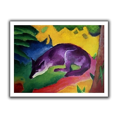 ArtWall Blue Fox' by Franz Marc Painting Print on Rolled Canvas; 18'' H x 22'' W