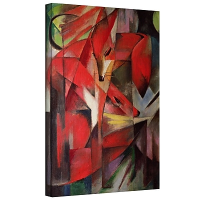 ArtWall 'The Fox' by Franz Marc Photographic Print on Wrapped Canvas; 36'' H x 48'' W