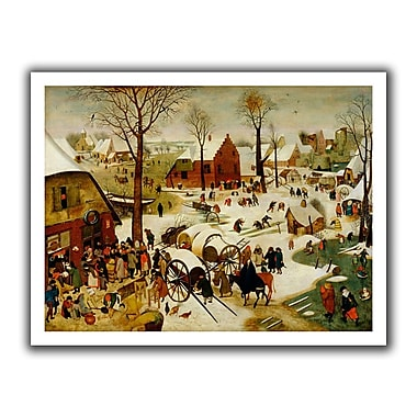 ArtWall The Census at Bethlehem' by Pieter Bruegel Painting Print on Rolled Canvas; 18'' H x 22'' W