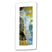 ArtWall Water Serpents Blonde'' by Gustav Klimt Painting Print on Rolled Canvas; 24'' H x 1'' W