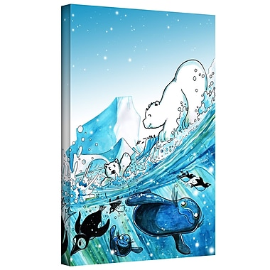 ArtWall 'Polar 7' by Luis Peres Graphic Art on Wrapped Canvas; 48'' H x 36'' W