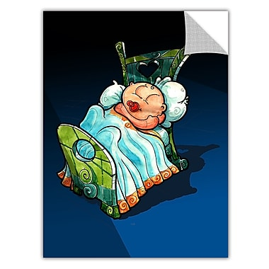 ArtWall ArtApeelz 'Kids in Bed 2' by Luis Peres Graphic Art Removable Wall Decal