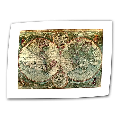 ArtWall Antique Maps 'Treasure Map' Graphic Art on Rolled Canvas; 36'' H x 52'' W