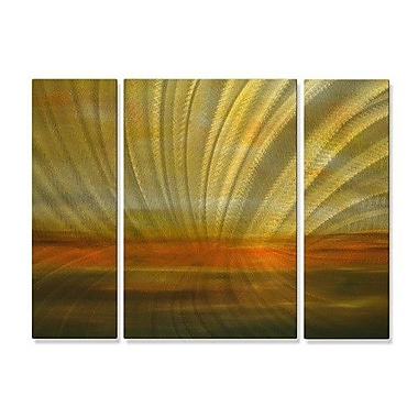 All My Walls 'Radiance' by Michele Morata 3 Piece Painting Print Plaque Set