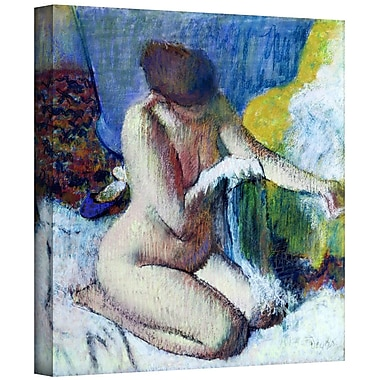 ArtWall 'After the Bath' by Edgar Degas Painting Print on Wrapped Canvas; 14'' H x 14'' W