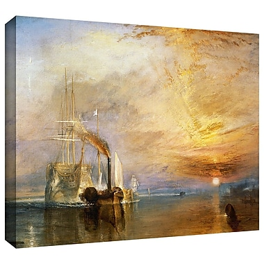 ArtWall 'The Fighting Temeraire' by William Turner Painting Print on Wrapped Canvas; 14'' H x 18'' W