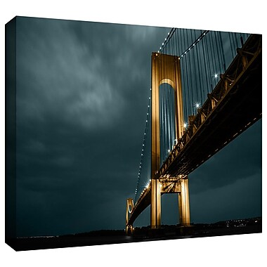 ArtWall 'Bridge' by Revolver Ocelot Photographic Print on Wrapped Canvas; 32'' H x 48'' W