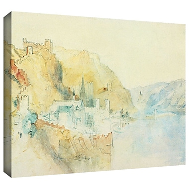 ArtWall 'On The Rhine' by William Turner Painting Print on Wrapped Canvas; 24'' H x 32'' W