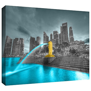 ArtWall 'Singapore' by Revolver Ocelot Photographic Print on Wrapped Canvas; 16'' H x 24'' W