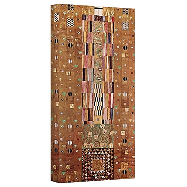 ArtWall ''Abstract Frieze'' by Gustav Klimt Print of Painting on Canvas; 24'' H 48'' W