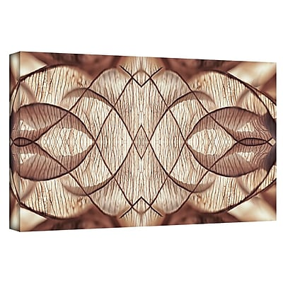 ArtWall 'Wallpaper IV' by Cora Niele Graphic Art on Wrapped Canvas; 16'' H x 48'' W