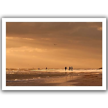 ArtWall Walkers Siesta Key' by Lindsey Janich Photographic Print on Rolled Canvas; 16'' H x 22'' W