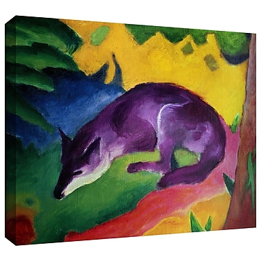 ArtWall 'Blue Fox' by Franz Marc Painting Print on Wrapped Canvas; 24'' H x 32'' W
