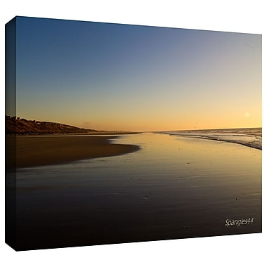 ArtWall 'Equihen Plage' by Lindsey Janich Photographic Print on Wrapped Canvas; 12'' H x 18'' W