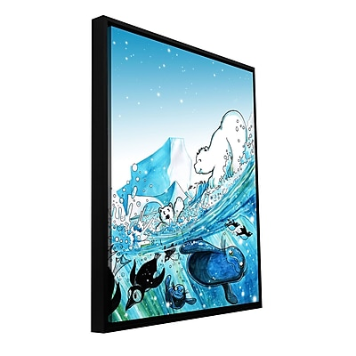 ArtWall 'Polar 7' by Luis Peres Framed Graphic Art on Wrapped Canvas; 48'' H x 36'' W